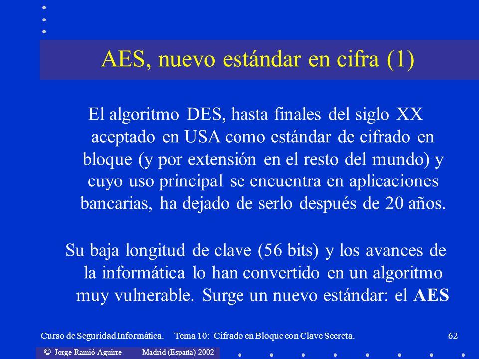 AES, nuevo estándar en cifra (1)