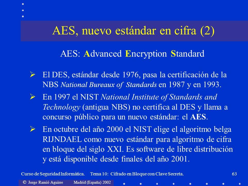 AES, nuevo estándar en cifra (2)
