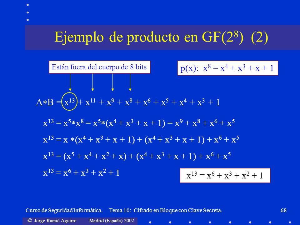 Ejemplo de producto en GF(28) (2)