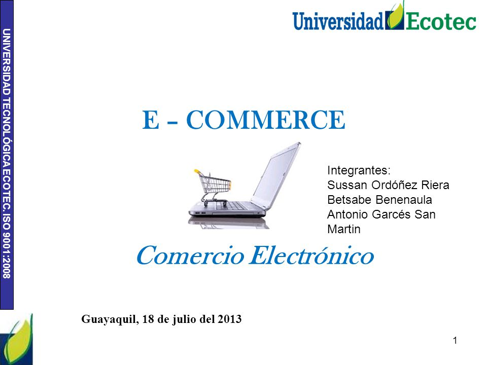 E – COMMERCE Comercio Electrónico