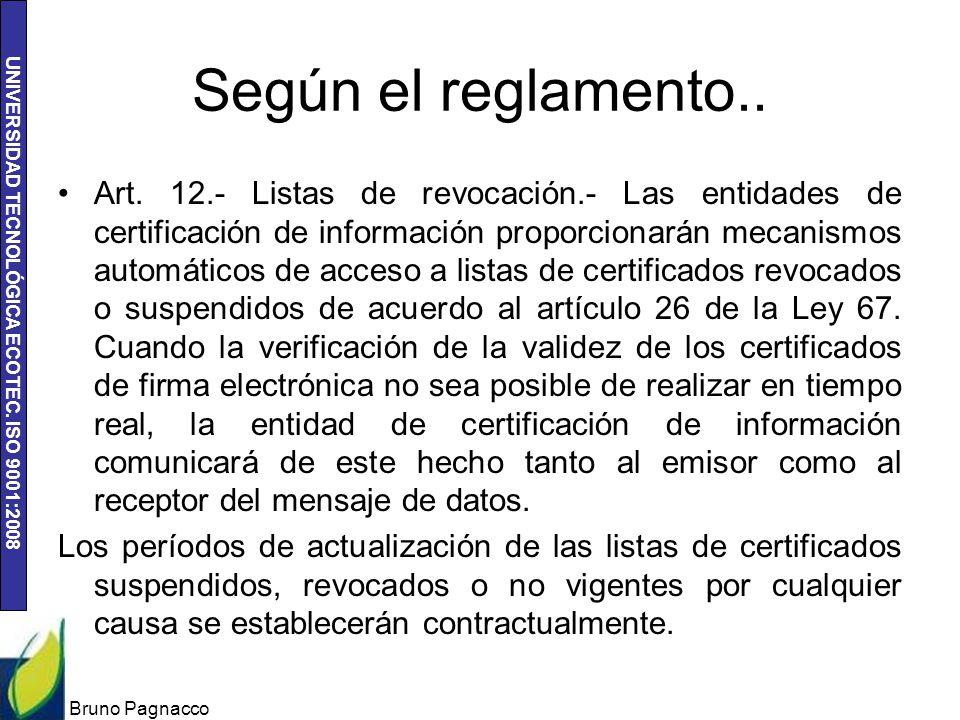 Según el reglamento..