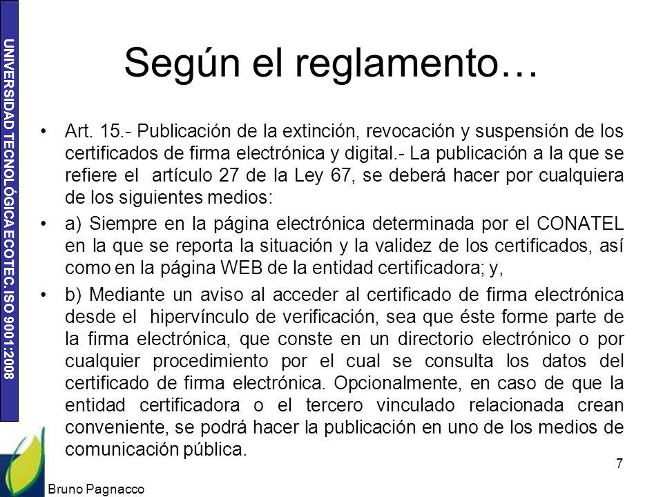 Según el reglamento…