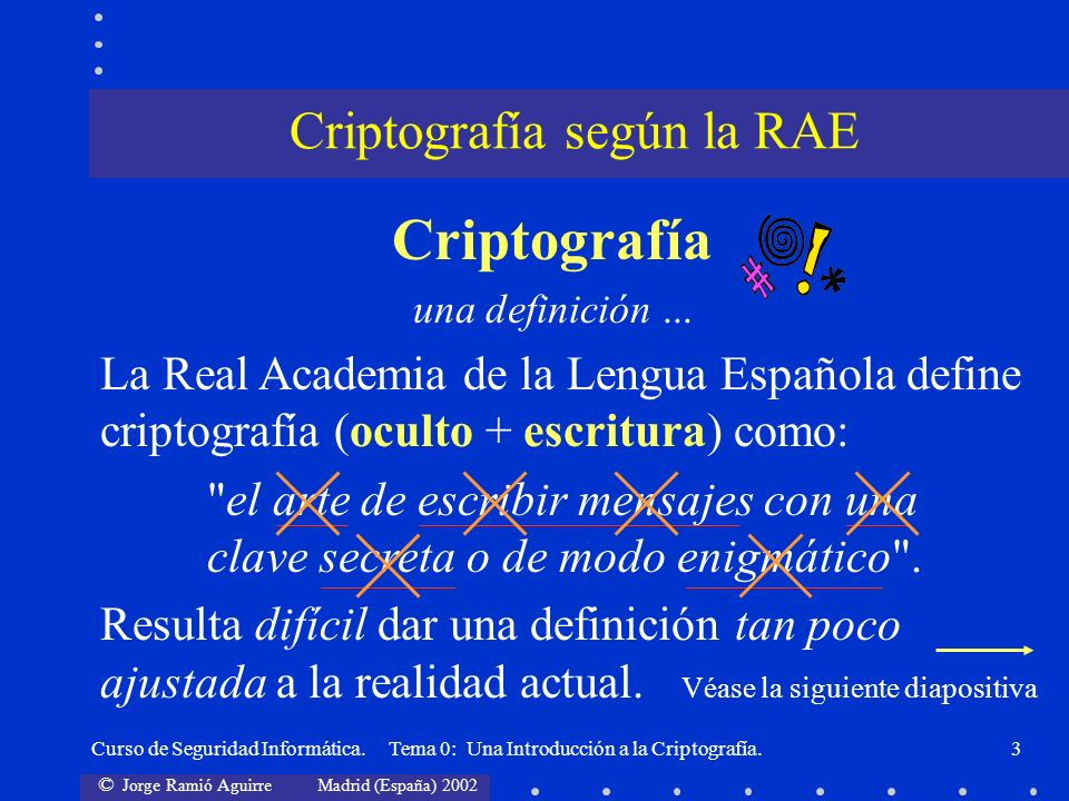 Criptografía según la RAE