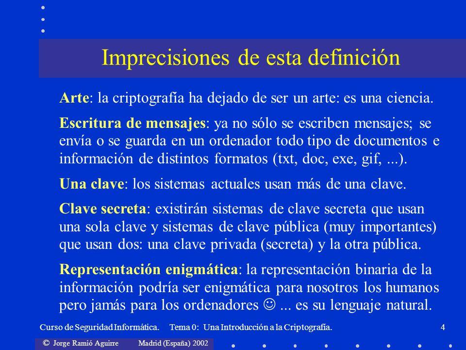 Imprecisiones de esta definición