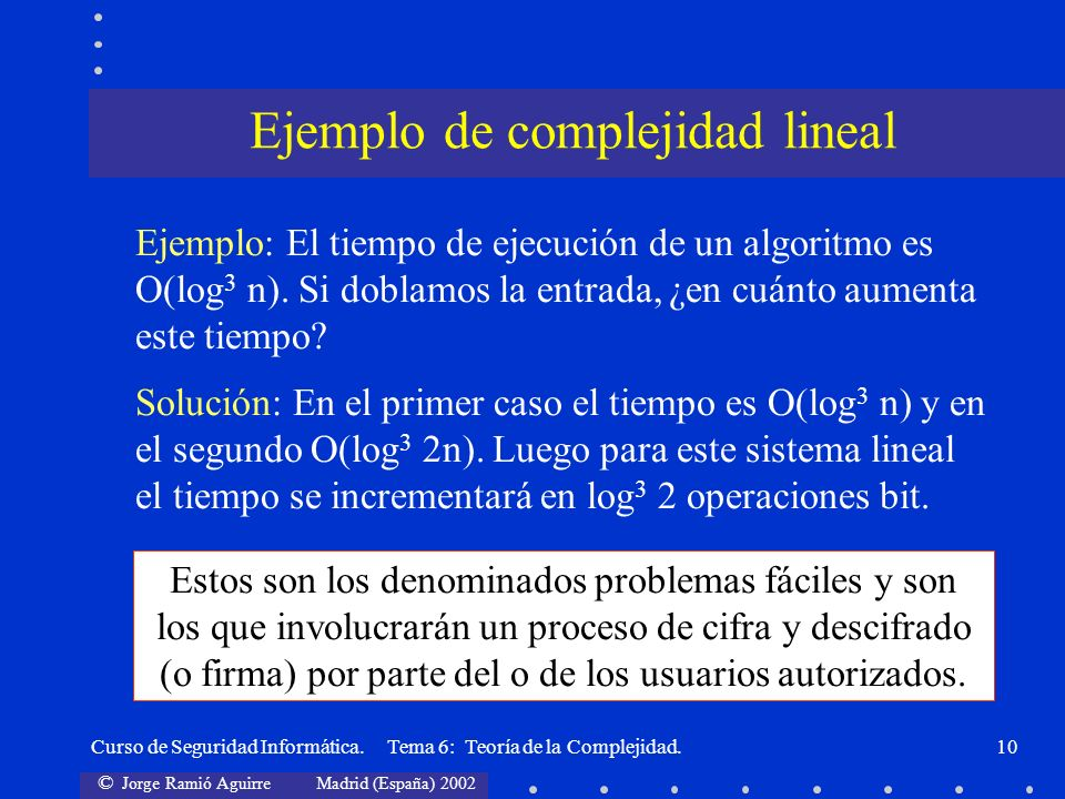 Ejemplo de complejidad lineal