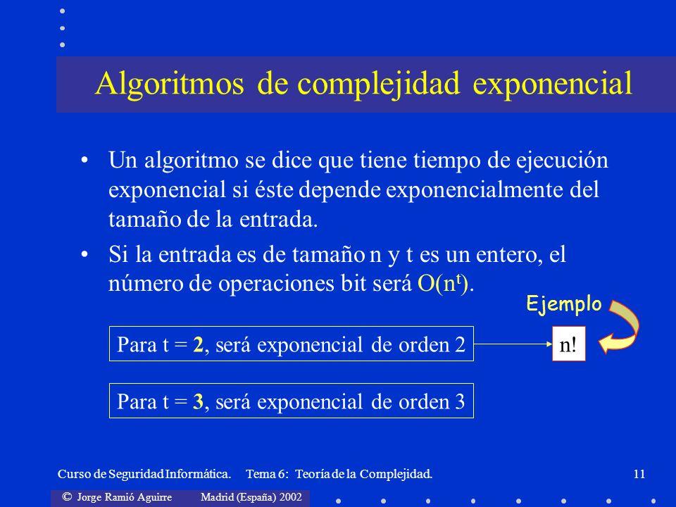 Algoritmos de complejidad exponencial