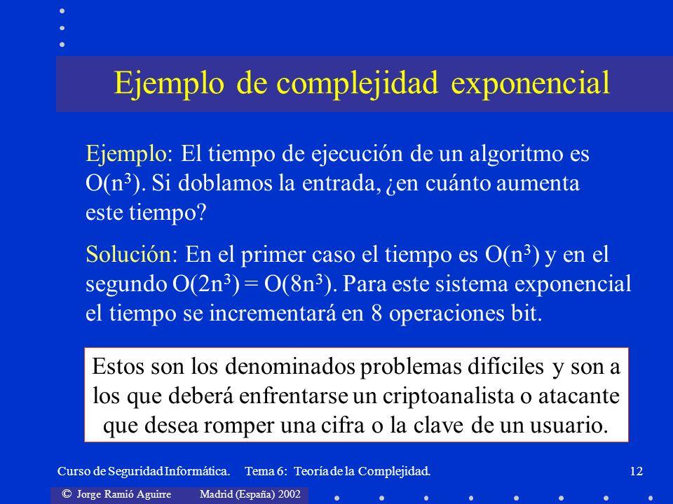 Ejemplo de complejidad exponencial