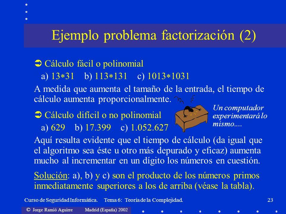 Ejemplo problema factorización (2)