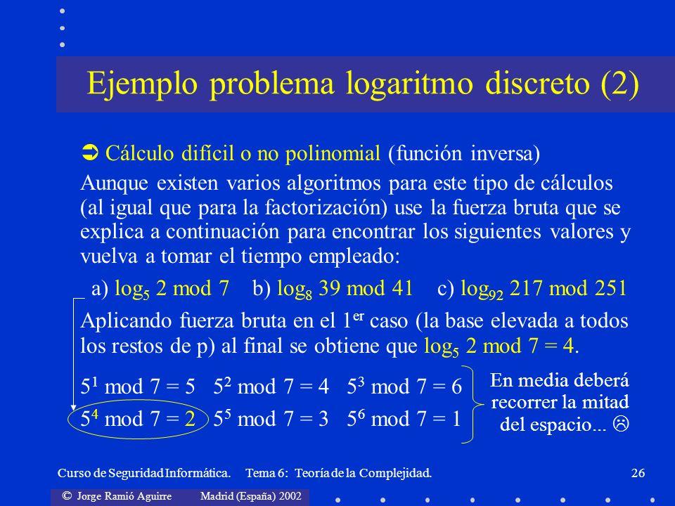 Ejemplo problema logaritmo discreto (2)