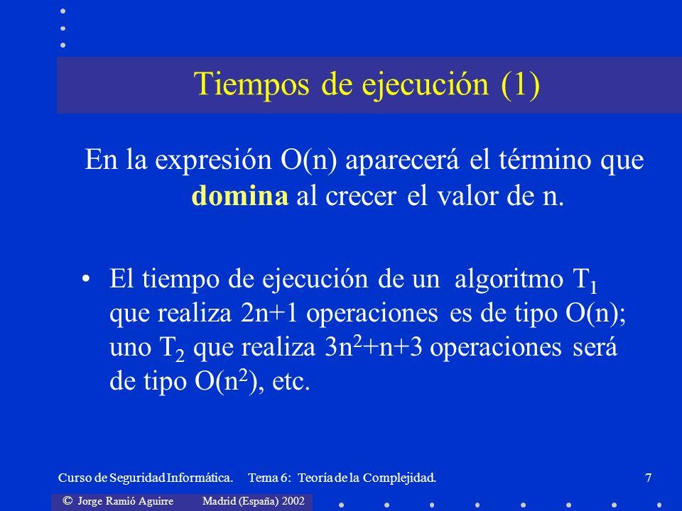 Tiempos de ejecución (1)