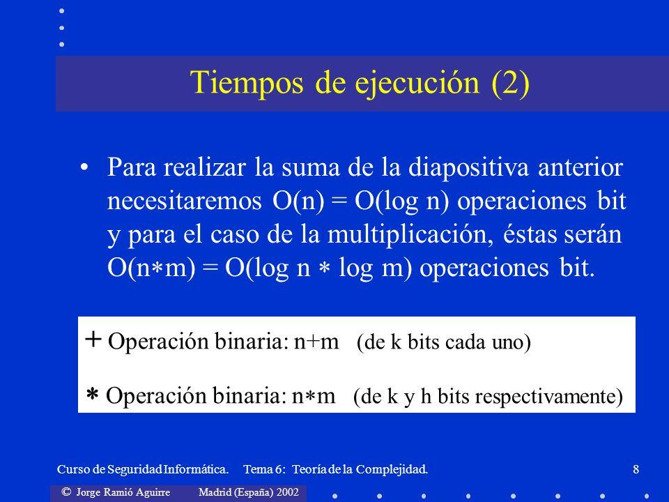 Tiempos de ejecución (2)