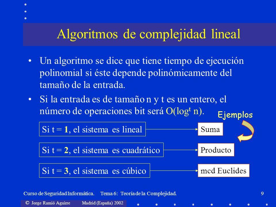 Algoritmos de complejidad lineal