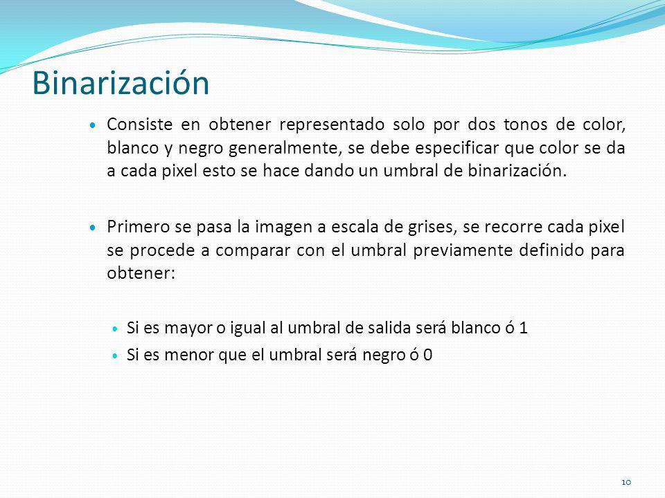 Binarización
