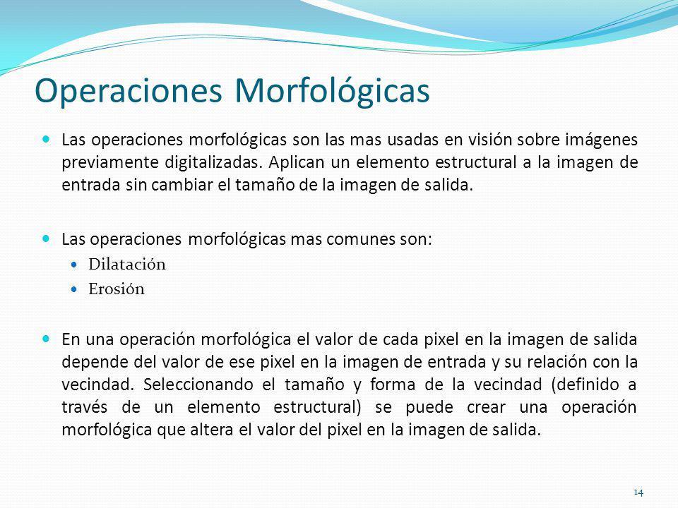 Operaciones Morfológicas