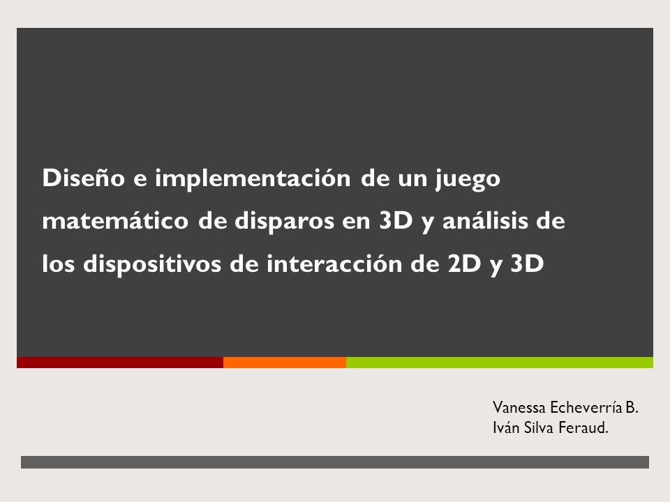 Diseño e implementación de un juego matemático de disparos en 3D y análisis de los dispositivos de interacción de 2D y 3D