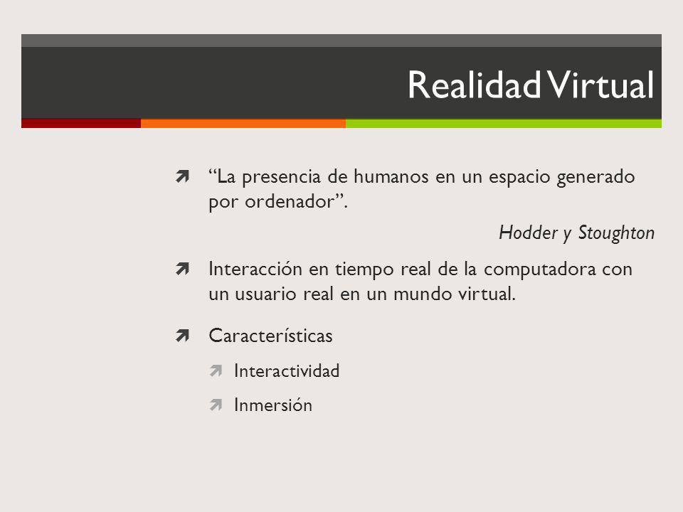 Realidad Virtual La presencia de humanos en un espacio generado por ordenador . Hodder y Stoughton.