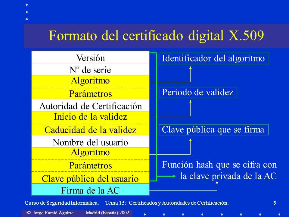 Formato del certificado digital X.509