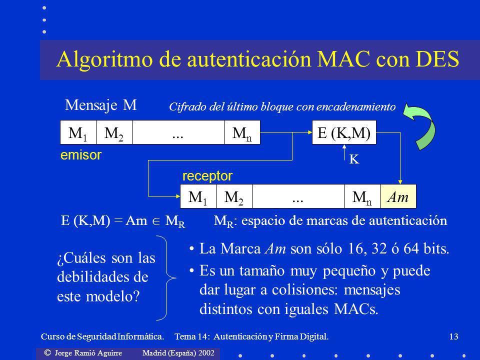 Algoritmo de autenticación MAC con DES