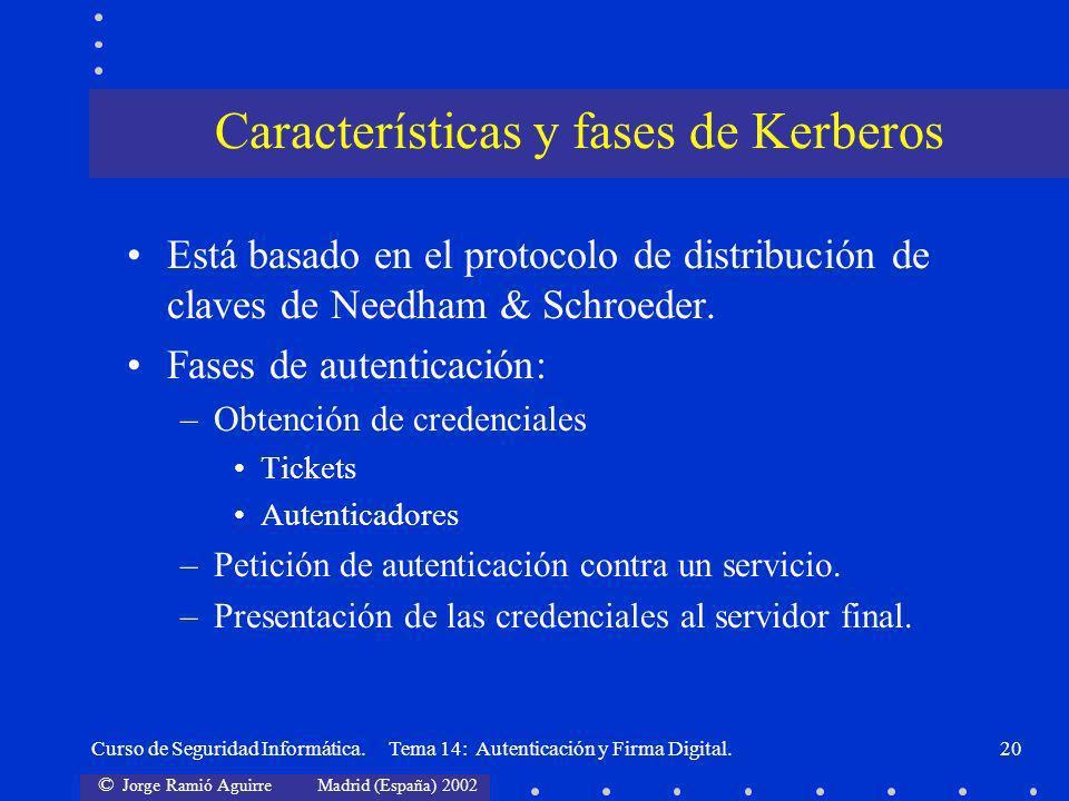 Características y fases de Kerberos