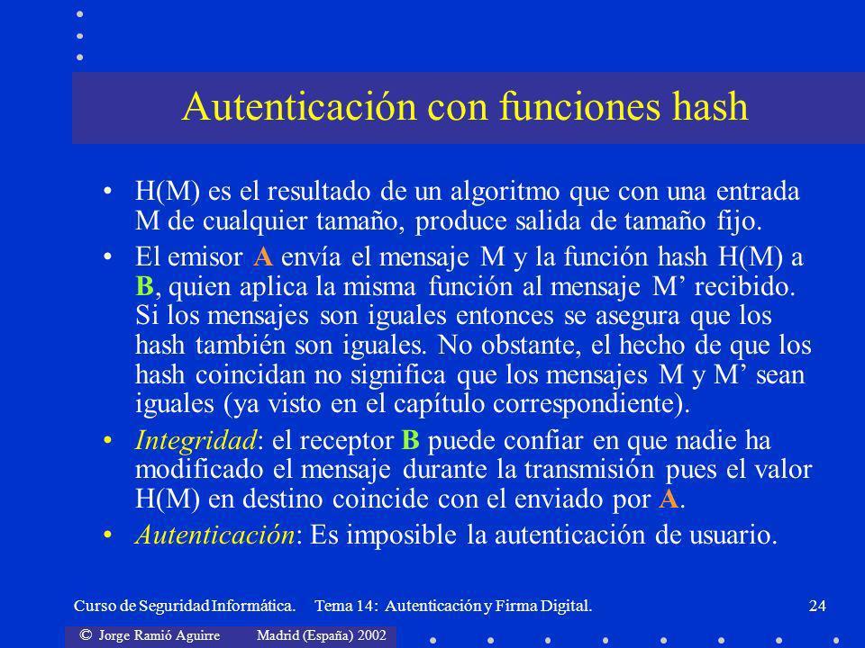 Autenticación con funciones hash