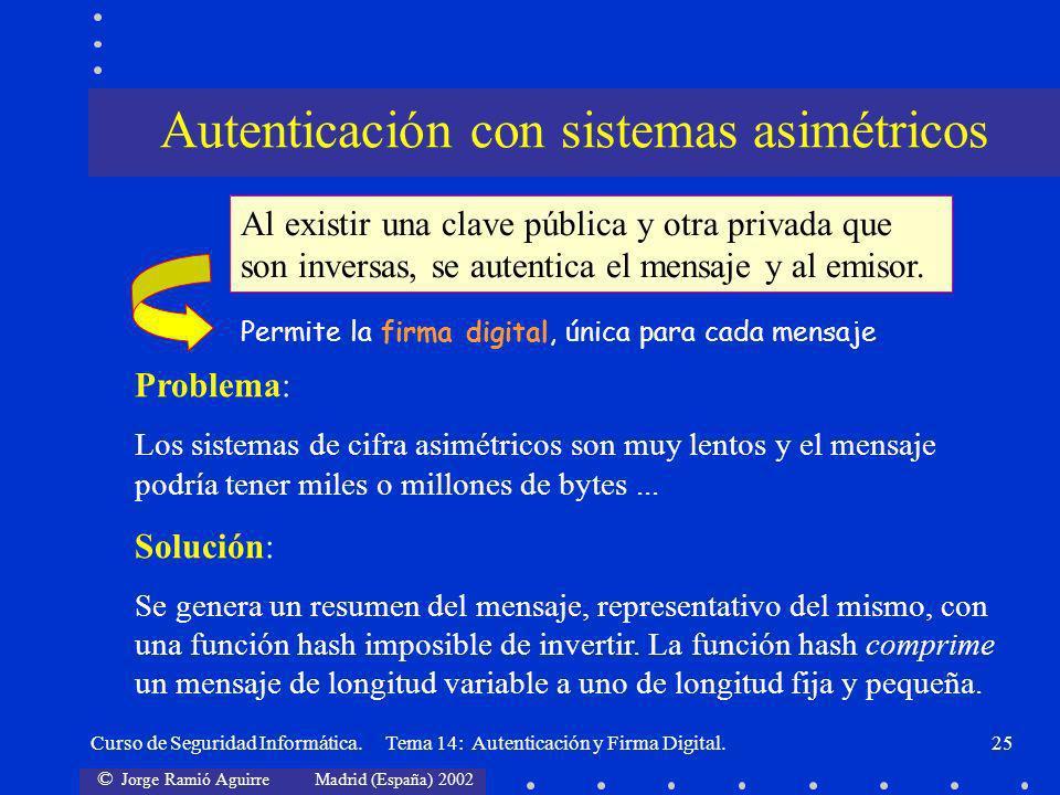 Autenticación con sistemas asimétricos