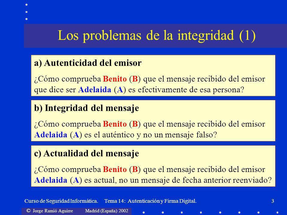 Los problemas de la integridad (1)