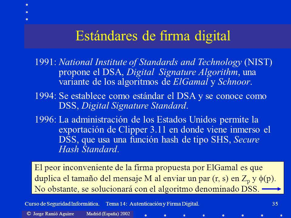 Estándares de firma digital