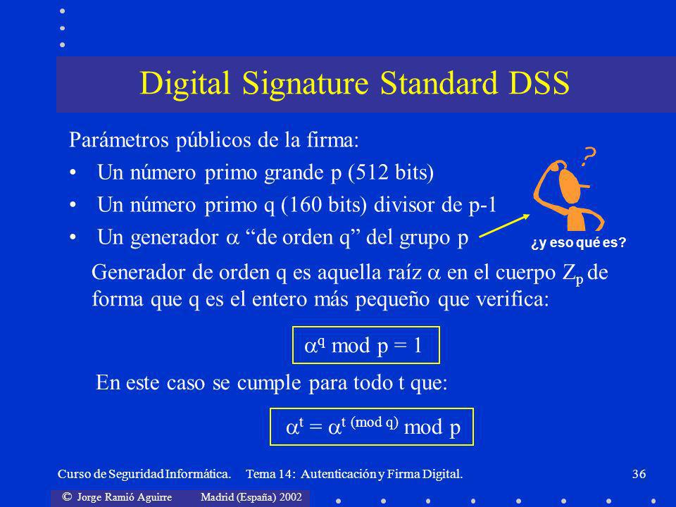 Digital Signature Standard DSS