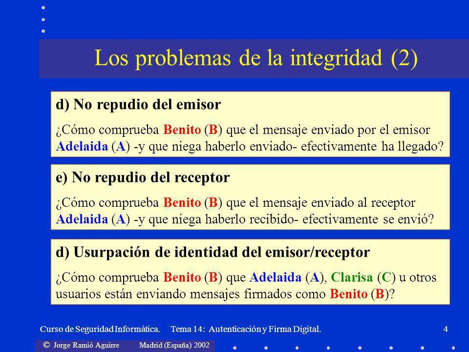 Los problemas de la integridad (2)