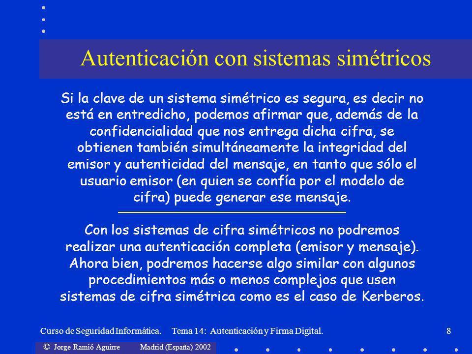 Autenticación con sistemas simétricos