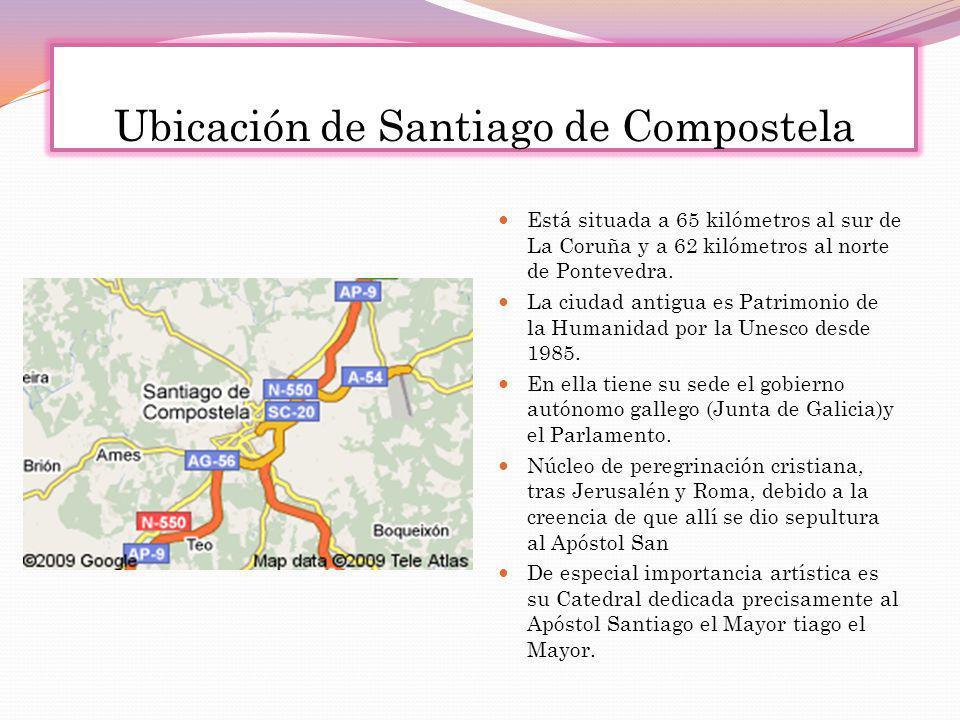 Ubicación de Santiago de Compostela