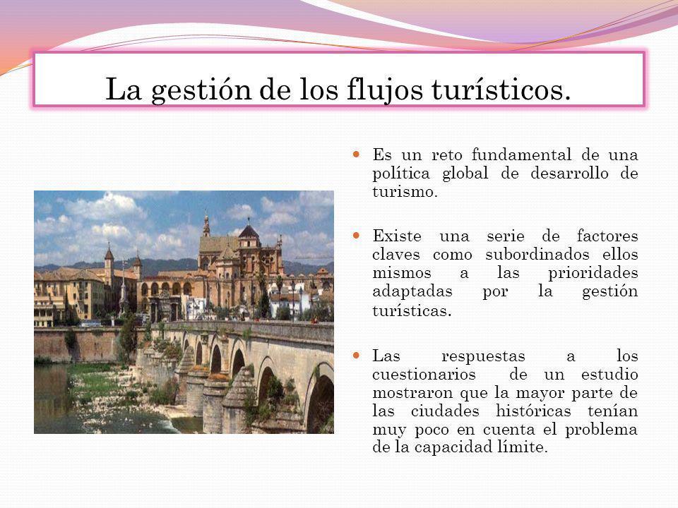 La gestión de los flujos turísticos.