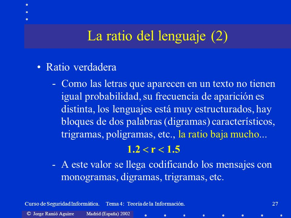La ratio del lenguaje (2)