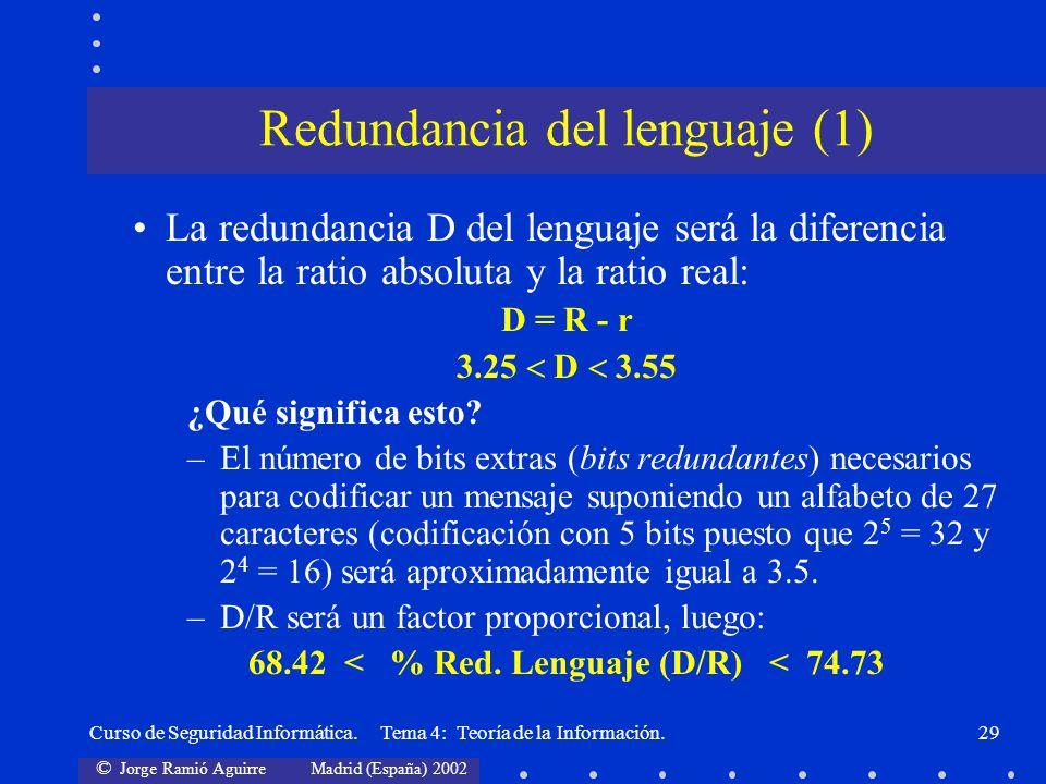 Redundancia del lenguaje (1)