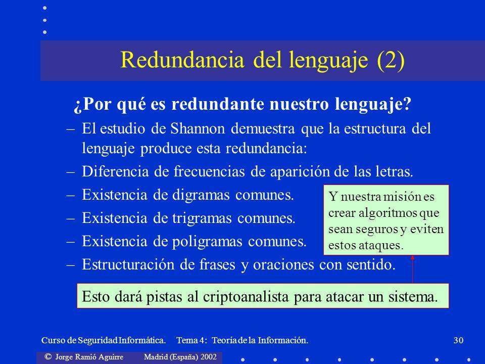 Redundancia del lenguaje (2)