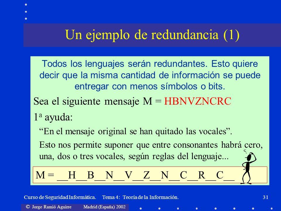 Un ejemplo de redundancia (1)