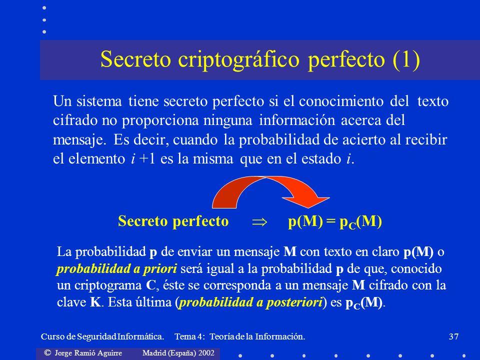 Secreto criptográfico perfecto (1)