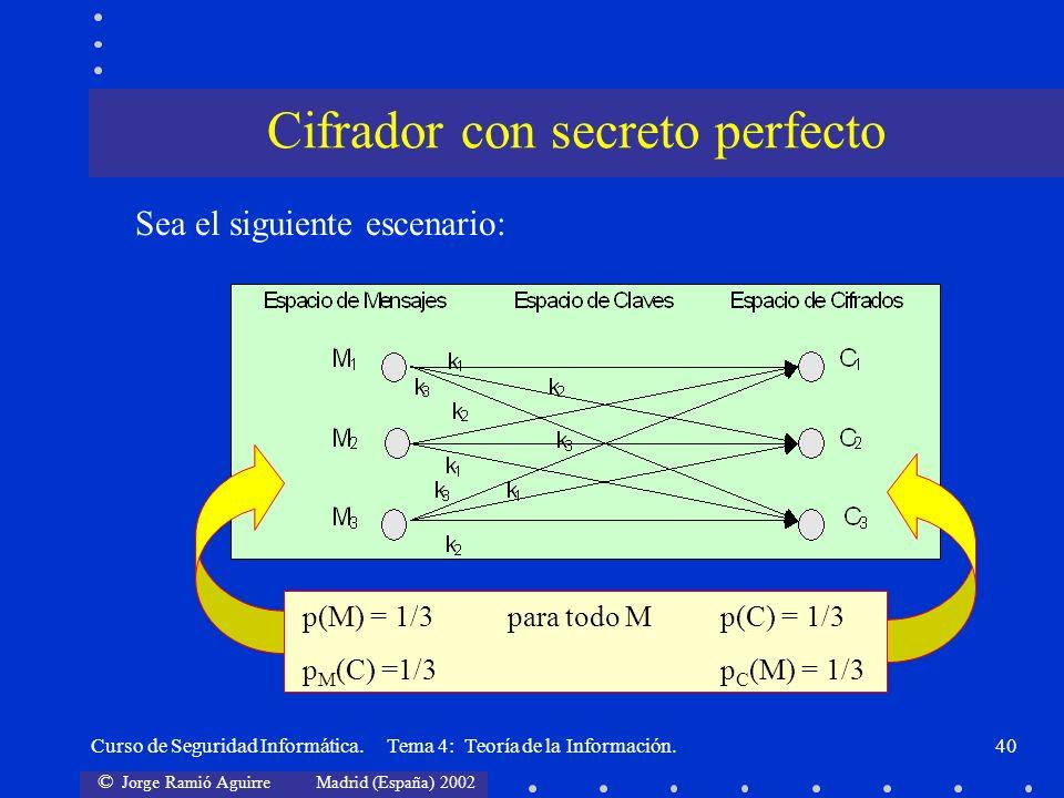 Cifrador con secreto perfecto