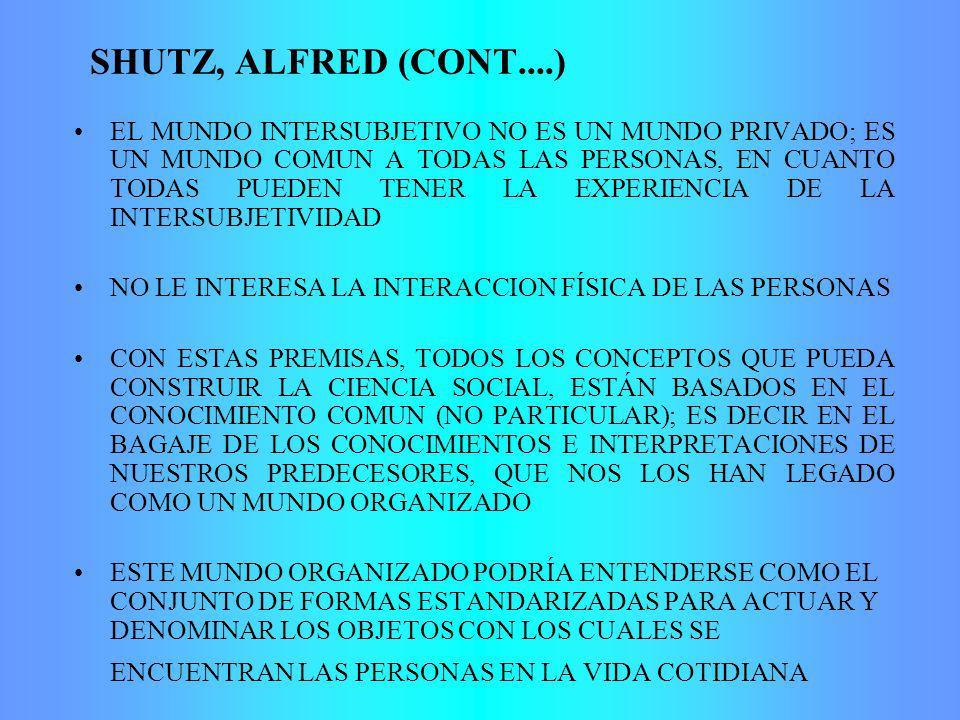 SHUTZ, ALFRED (CONT....)