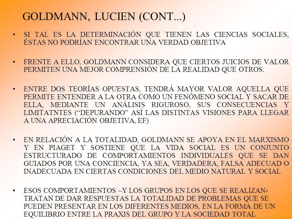 GOLDMANN, LUCIEN (CONT...)