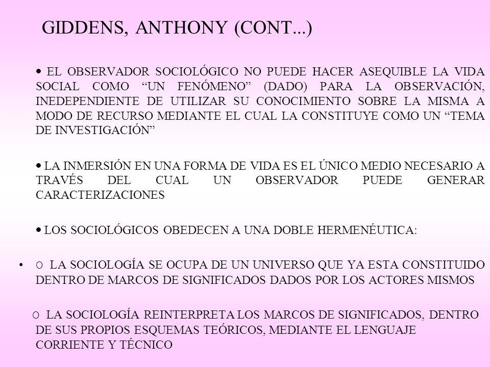 GIDDENS, ANTHONY (CONT...)