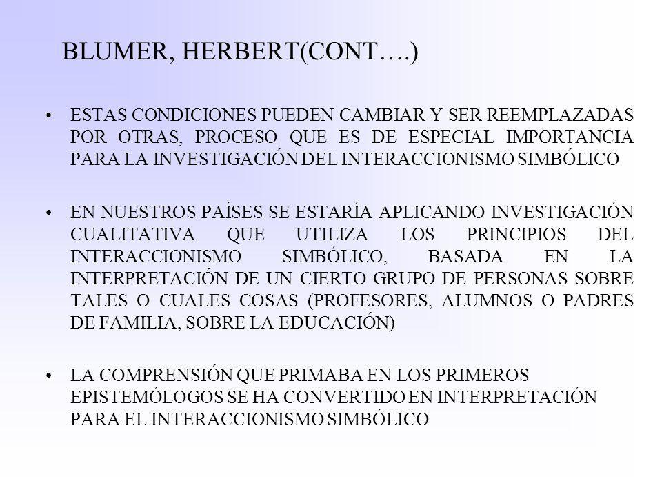 BLUMER, HERBERT(CONT….)