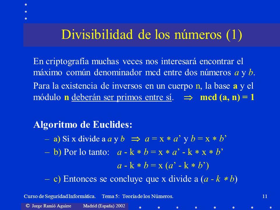 Divisibilidad de los números (1)