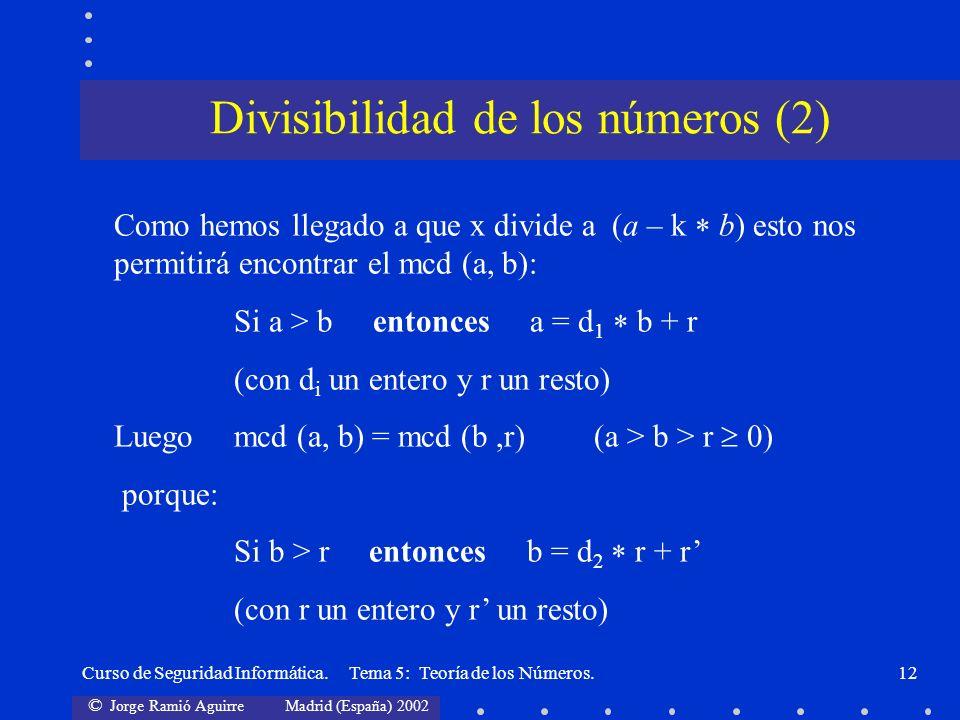 Divisibilidad de los números (2)