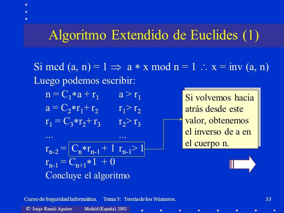 Algoritmo Extendido de Euclides (1)