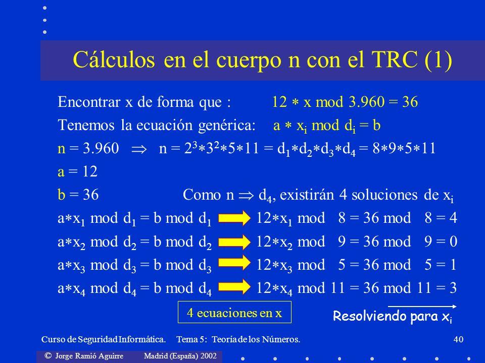 Cálculos en el cuerpo n con el TRC (1)