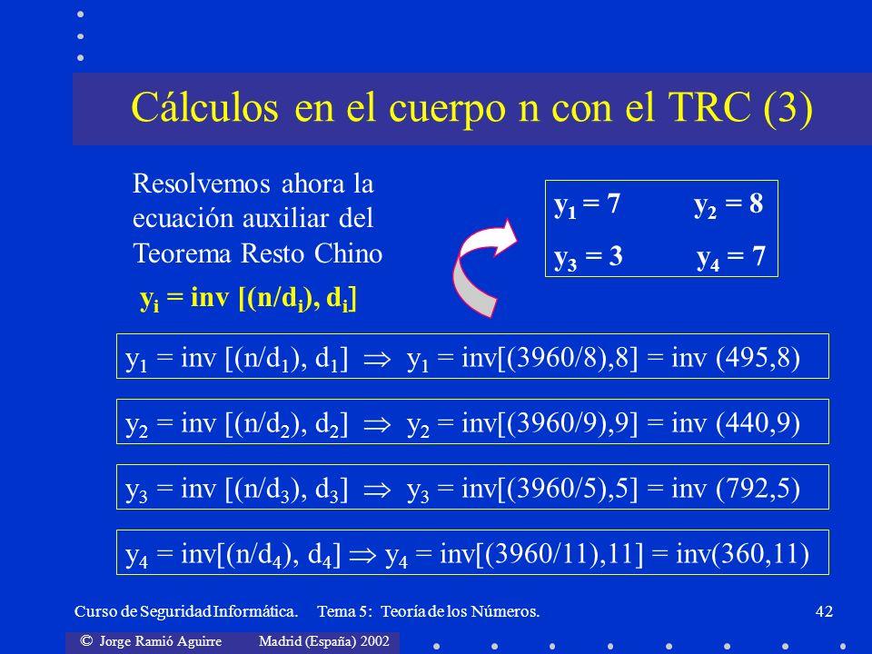Cálculos en el cuerpo n con el TRC (3)