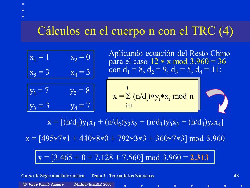Cálculos en el cuerpo n con el TRC (4)