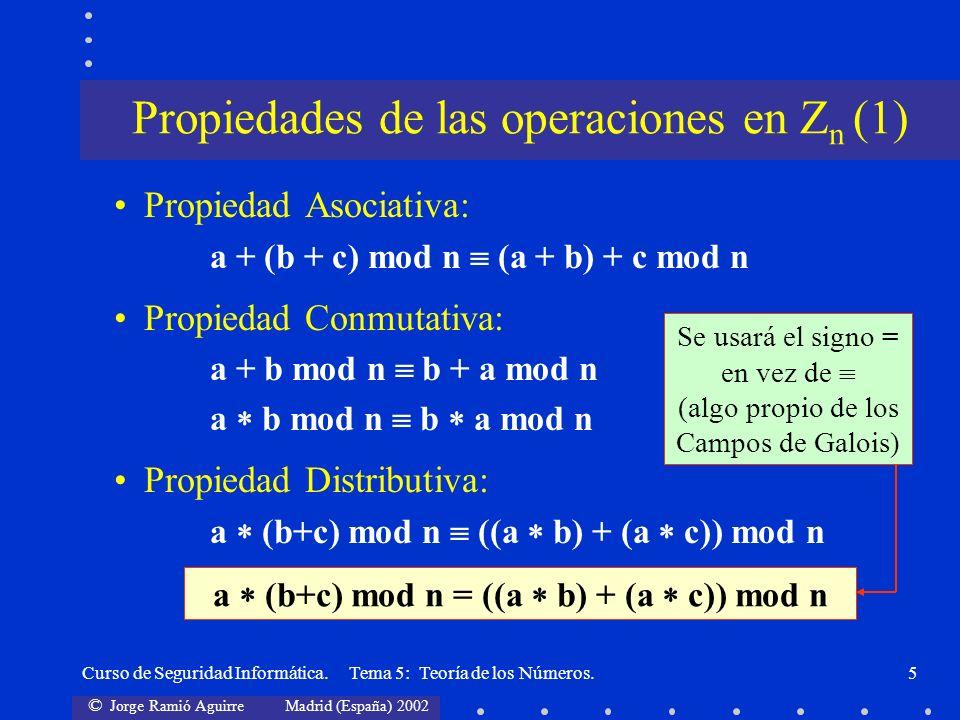 Propiedades de las operaciones en Zn (1)