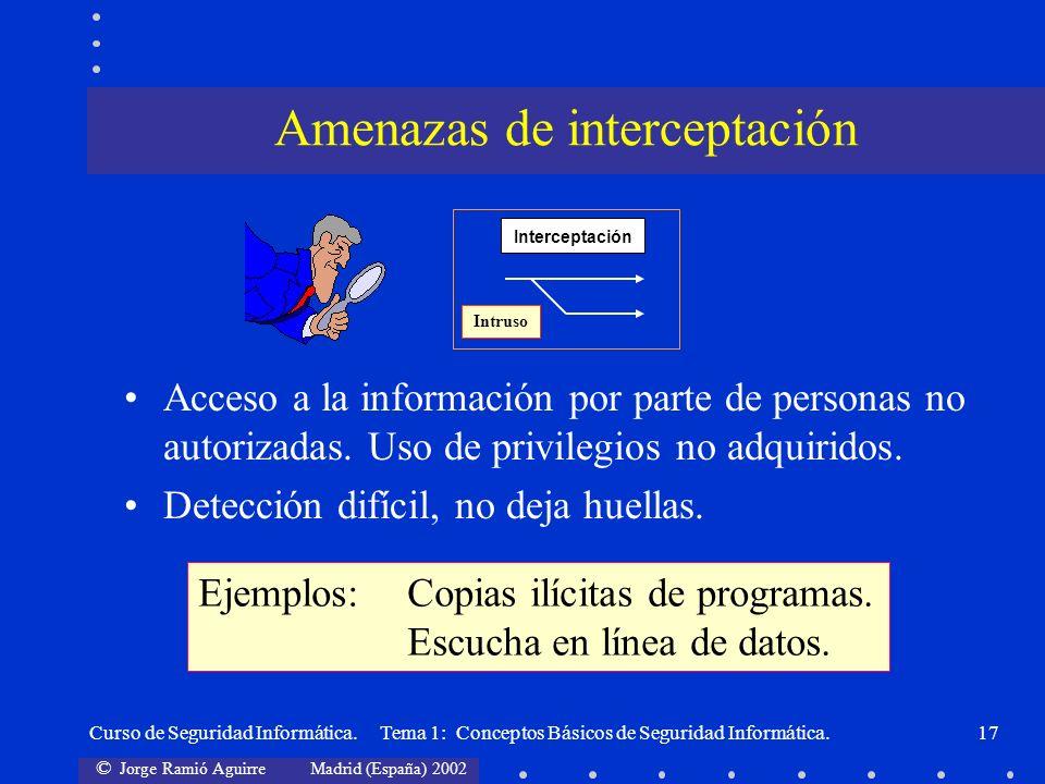 Amenazas de interceptación